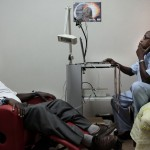 Dr Lisk with Patient